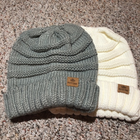 Page one chunky beanie hat